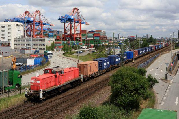 Seehafen-Hinterlandverkehr Hafen Hamburg (c) Deutsche Bahn AG