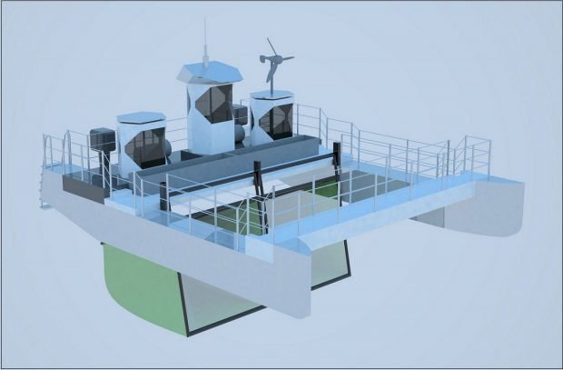 Animation Müllsammelschiff Seekuh (c) One Earth - One Ocean