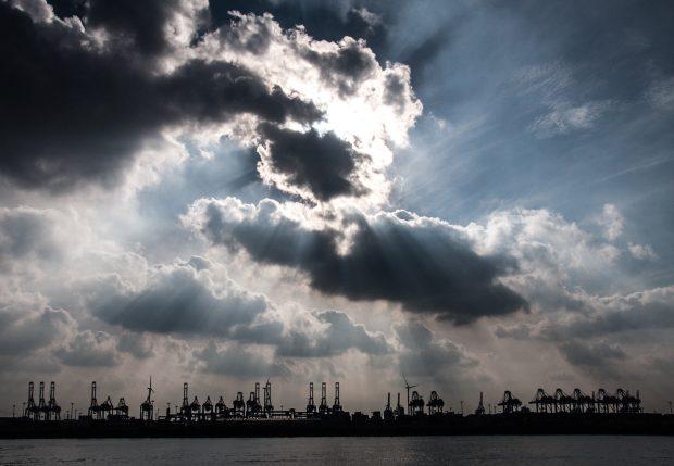 Abend am Hamburger Hafen