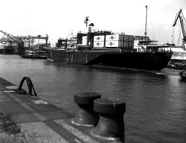 50 Jahre Containerumschlag in Deutschland_Ankunft MS FAIRLAND (c) BLG