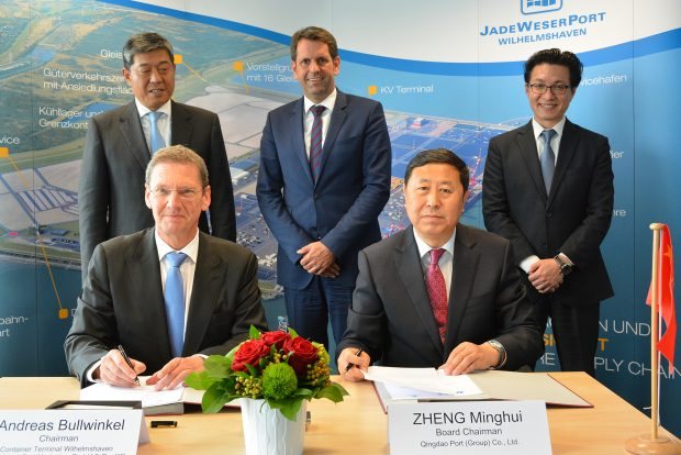 JadeWeserPort und Port Qingdao vereinbaren Kooperationsabsicht (c) JWP