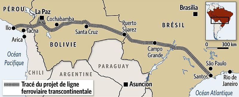 Ein Projektentwurf der von Bolivien favorisierten Strecke.