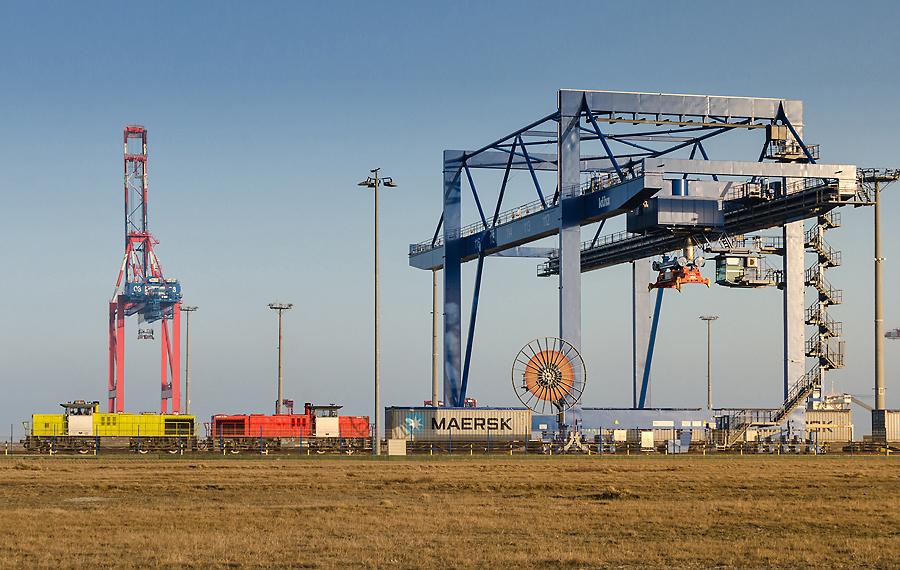 Die 16-gleisige Vorstellgruppe in Wilhelmshaven ermöglicht das schnelle Zusammenstellen und Rangieren von Zügen.