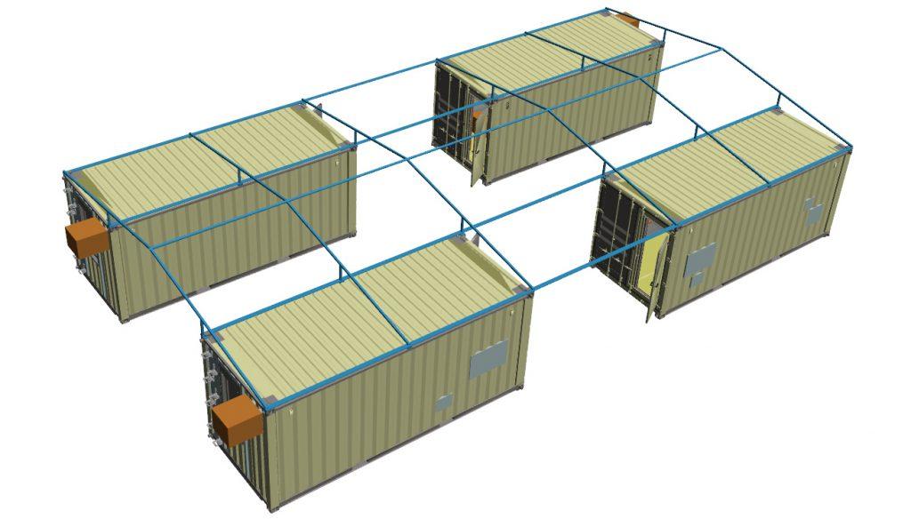 CHS-Container mit Zeltdach