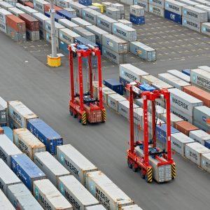Jade Weser Port, Eurogate Container  Terminal Wilhelmshaven, 14.07.2013. Foto / © Sabine Vielmo. Nutzungsrechte nach Vereinbarung.