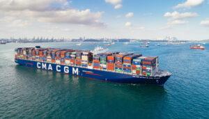 Die CMA CGM Antoine de Saint-Exupéry ist das aktuelle Flaggschiff der französischen Reederei
