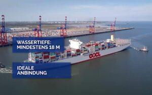 Über die zahlreichen Vorzüge des Wilhelmshavener JadeWeserPorts informiert jetzt ein neuer, fünfminütiger Imagefilm vom Terminalbetreiber Eurogate.