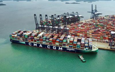 CMA CGM: Fünftes 23.000-TEU-Typschiff mit LNG-Antrieb getauft