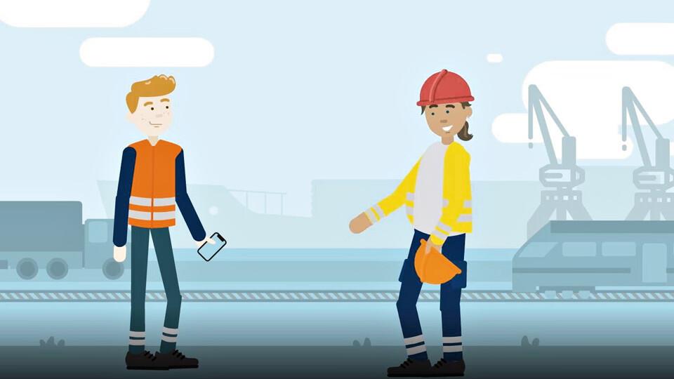 """Animationsfilm erläutert Ausbildungsberuf """"Fachkraft für Hafenlogistik"""""""