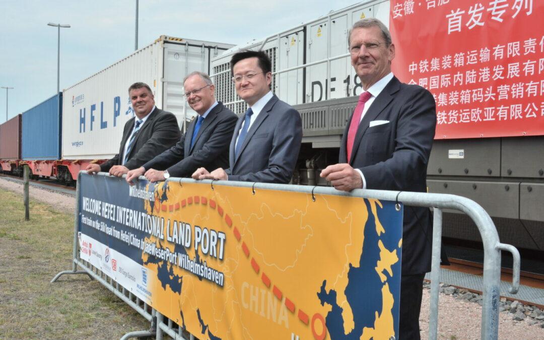 JadeWeserPort empfängt ersten Direktzug aus China