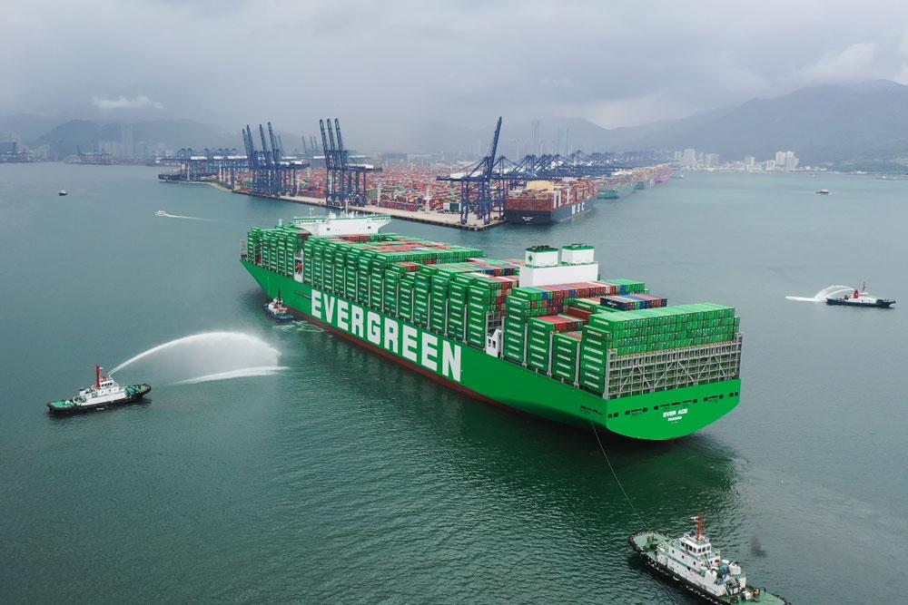 """Rekord: Die """"Ever Ace"""" ist das größte Containerschiff der Welt"""